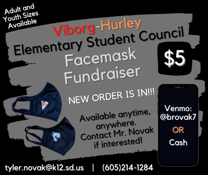 V-H Facemasks for Sale Round 2